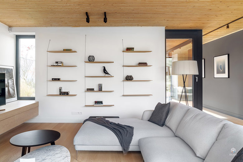 Dom nad jeziorem, Chyby. Projekt wnętrz: Ev Architects. Zdjęcie: Tom Kurek