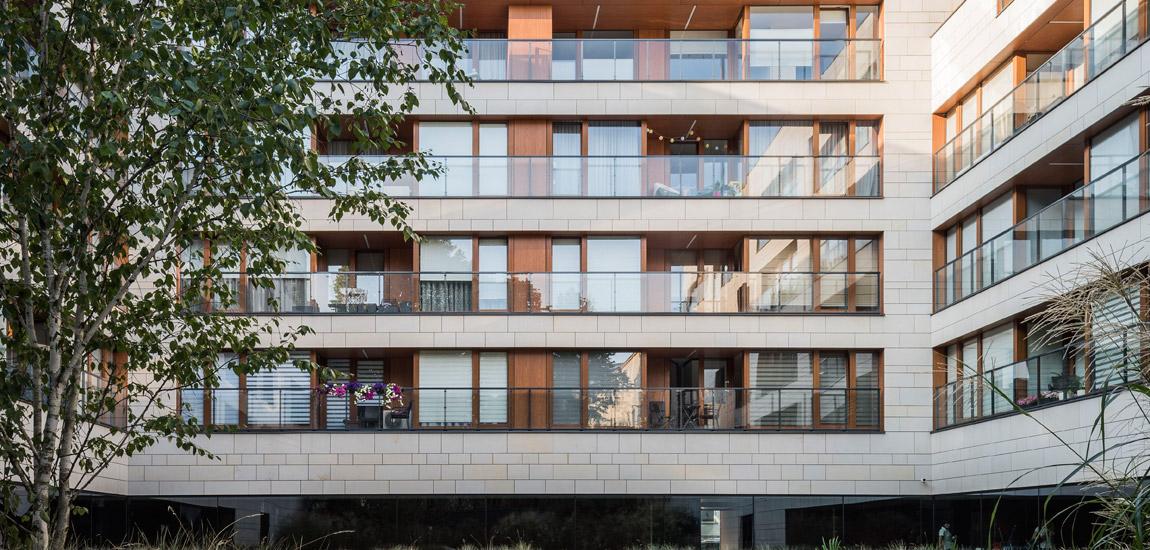 Apartamenty Niemcewicza, Warszawa. Projekt:JEMS Architekci. Zdjęcie: Juliusz Sokołowski
