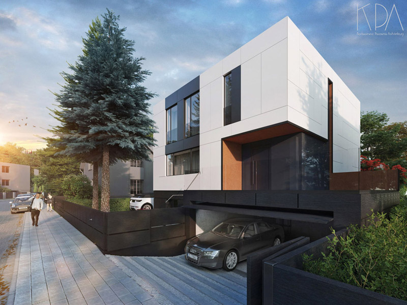 Przebudowa i rozbudowa domu typu we Wrocławiu. Projekt: KPA Korbasiewicz Pracownia Architektury