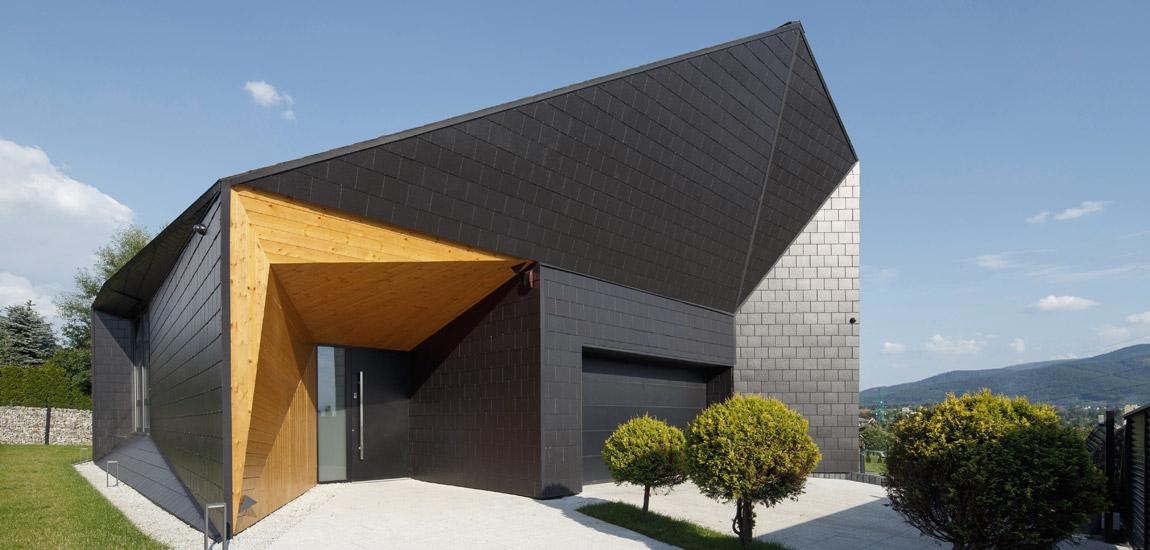 Czarna Skała – inspirowany górskim krajobrazem dom projektu MUS Architects