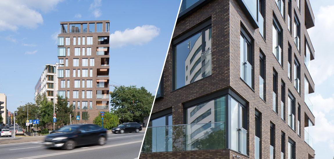 """Apartamentowiec """"Latarnia"""", Port Praski, Warszawa. Projekt: APA Wojciechowski Architekci. Zdj. Piotr Krajewski"""