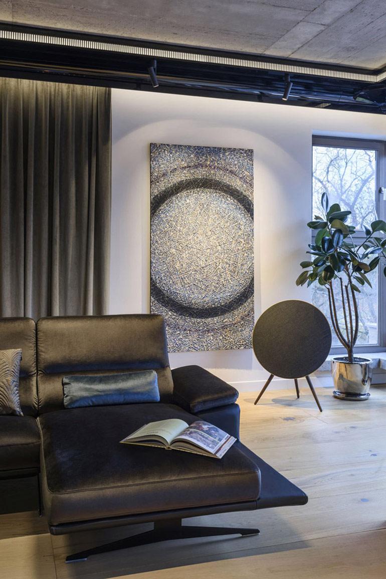 Apartament na osiedlu Awangarda w Warszawie. Projekt wnętrz: Tarnowski Division. Zdjęcie:Łukasz Zandecki