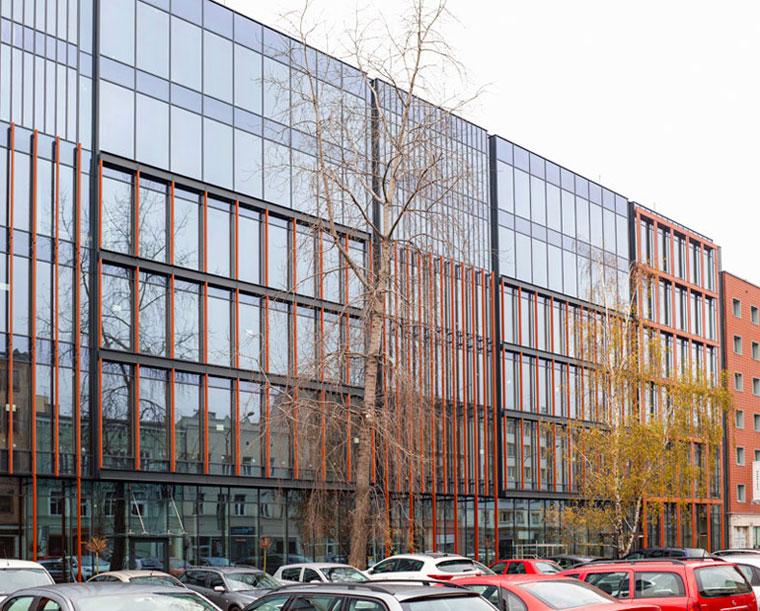 Budynek biurowo-usługowy Dworcowa 25 w Gliwicach. Projekt: ArKuS Biuro Projektowo-Doradcze Marek Gachowski