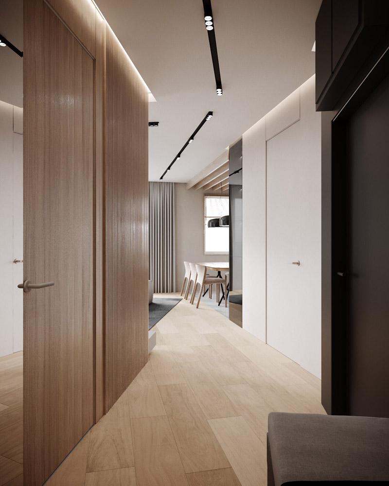 Mieszkanie we Wrocławiu. Projekt wnętrz:Hi-Light Architects