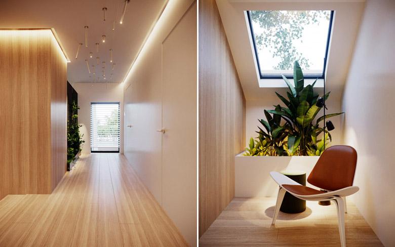 Wnętrza domu pod Krakowem. Projekt: Hi-Light Architects