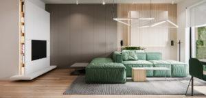 Stonowane wnętrza mieszkania projektu Hi-Light Architects