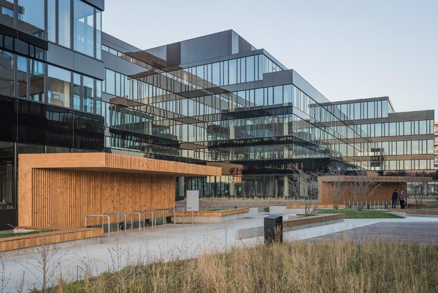 Ekologiczny kompleks biurowy Neopark, Warszawa. Projekt:JEMS Architekci. Zdjęcia:Juliusz Sokołowski