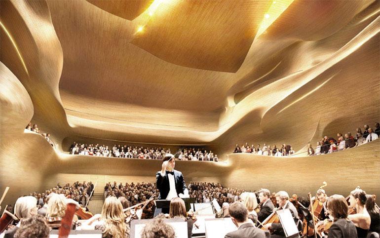 Centrum Muzyki w Krakowie. II Nagroda w konkursie: Metra et Associes – Brigitte Metra