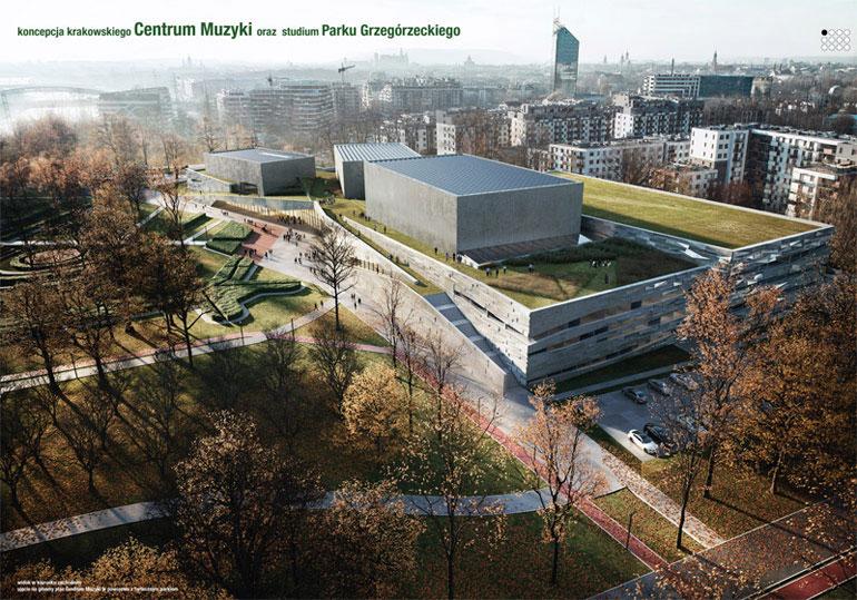 Centrum Muzyki w Krakowie. Wyróżnienie równorzędne w konkursie: Plus3 Architekci