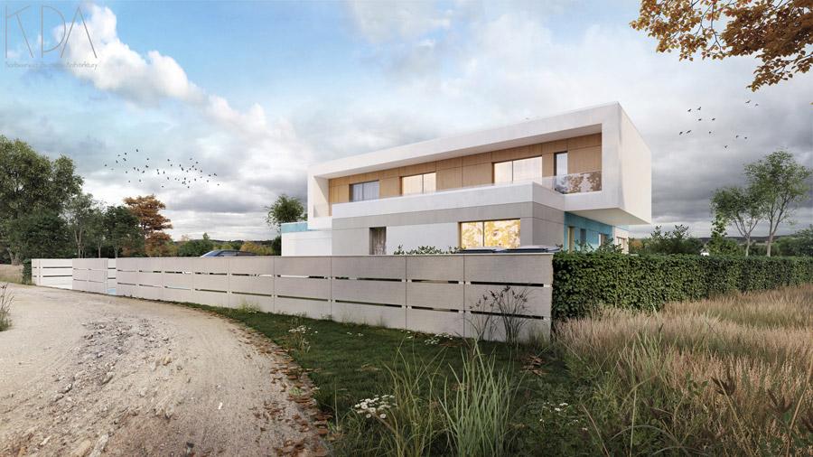 Dom z bramą, Stanowice. Projekt: KPA Korbasiewicz Pracownia Architektury