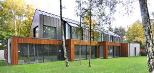 Energooszczędny dom w malowniczym krajobrazie pracowni MIDI