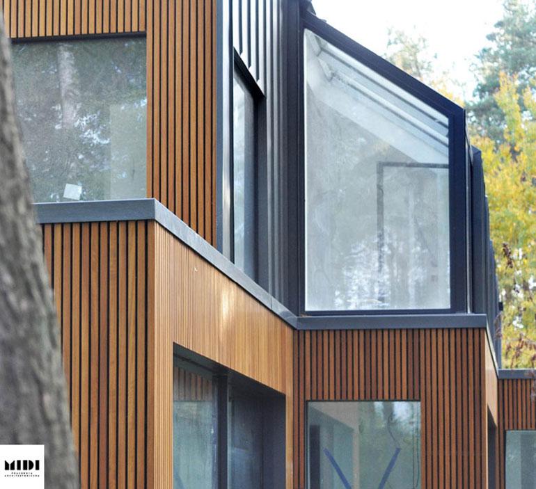 Dom jednorodzinny z pracownią, Osowa, Gdańsk. Autorzy:MIDI Pracownia Architektoniczna