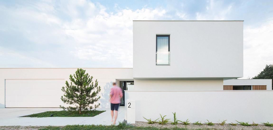 Nowoczesna, skromna i efektowna forma domu projektu biura PL.architekci