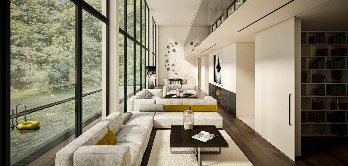Stonowane i eleganckie wnętrza w tonacjach beżów i szarości projektu biura TK Architekci