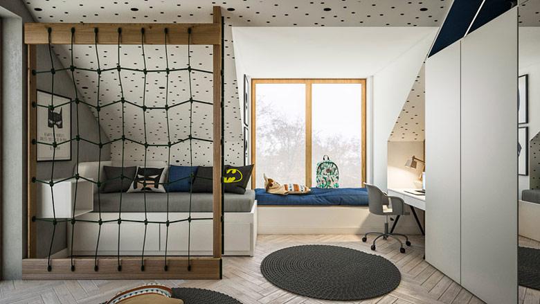 Wnętrza domu jednorodzinnego. Projekt:TK Architekci