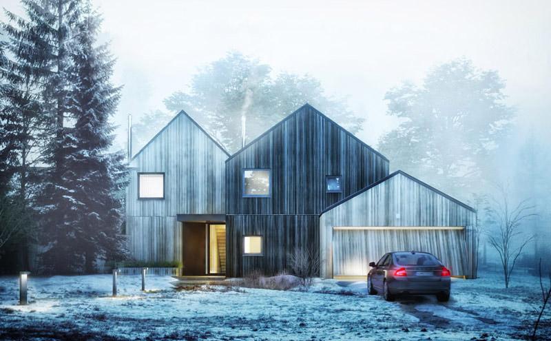 W harmonii z otoczeniem – dom nad Narwią projektu biura STOPROCENT Architekci