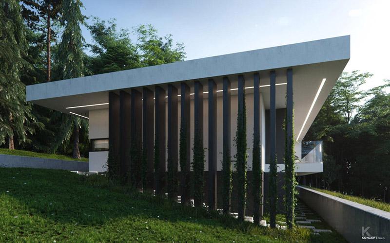 Dom na skarpie pracowni KONZEPT Architekci