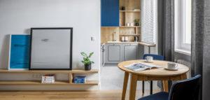 Żywe i przytulne wnętrza mieszkania projektu 3XEL Architekci
