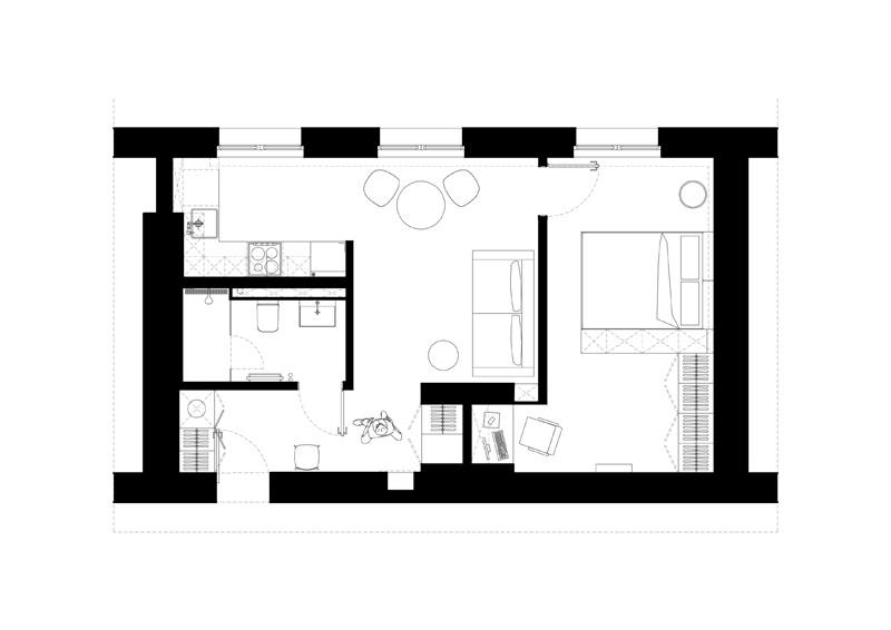 Mieszkanie na Żoliborzu, Warszawa. Projekt wnętrz:3XEL Architekci | Justyna Kolasa, Patryk Ławrynowicz
