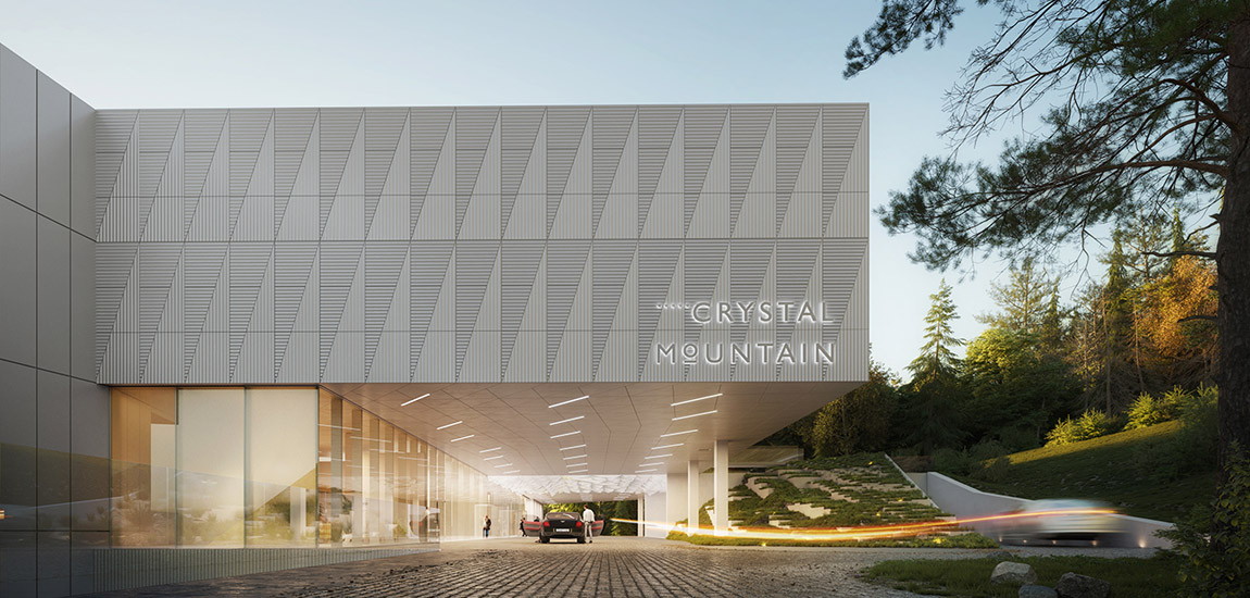 Hotel Crystal Mountain Resort w Wiśle. Projekt architektoniczny:Q2Studio
