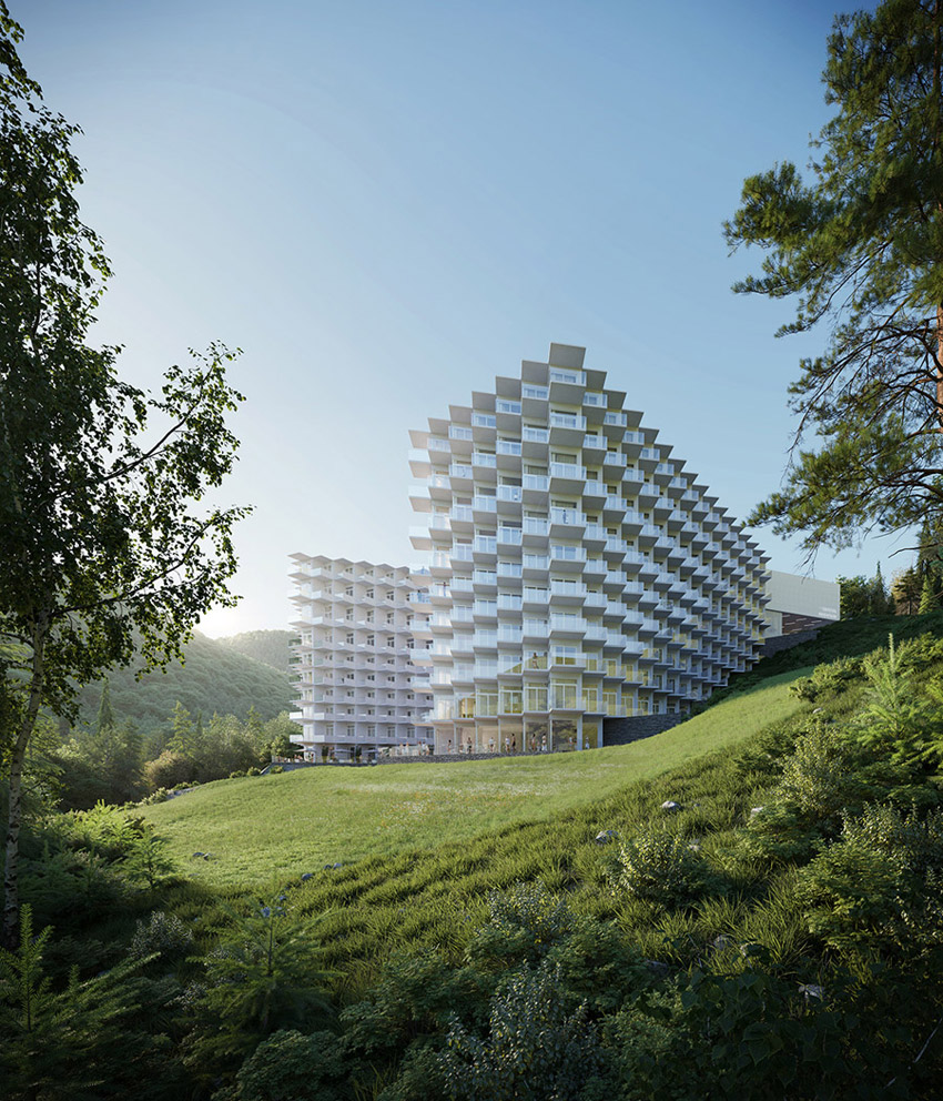 Hotel Crystal Mountain Resort w Wiśle. Projekt architektoniczny: Q2Studio