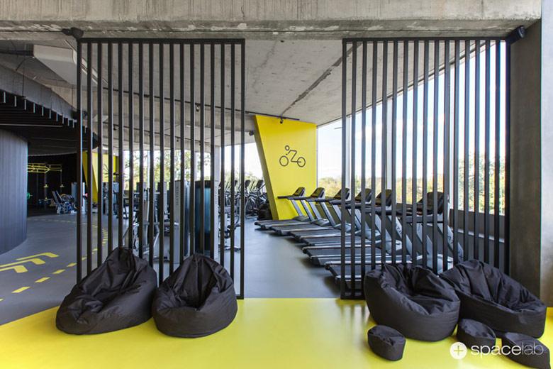 Klub WF Fitness, Kostrzyn nad Odrą. Projekt wnęrz: Pracownia architektoniczna Spacelab. Zdjęcia: MOIZ