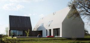 Nawiązujący do lokalnych tradycji dom pod Kazimierzem projektu Atelier Tektura