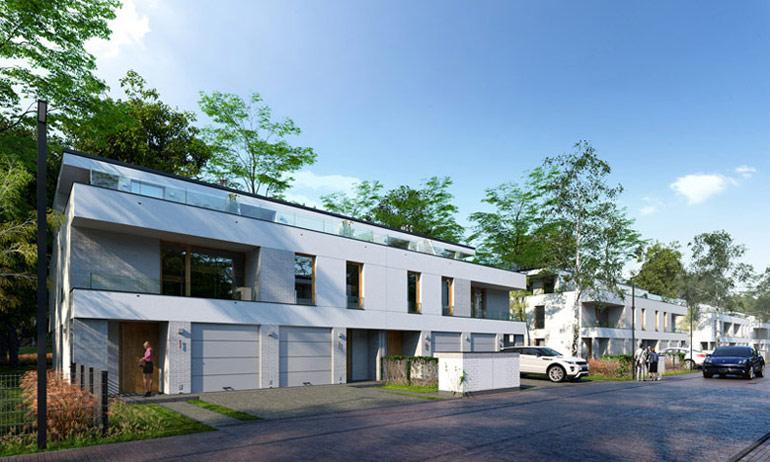 Osiedle domów jednorodzinnych w Warszawie. Projekt: GGP Architekci
