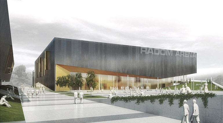 Wielofunkcyjna hala sportowa w Radomiu. Projekt konkursowy: GGP Architekci, Grupa 5 Architekci