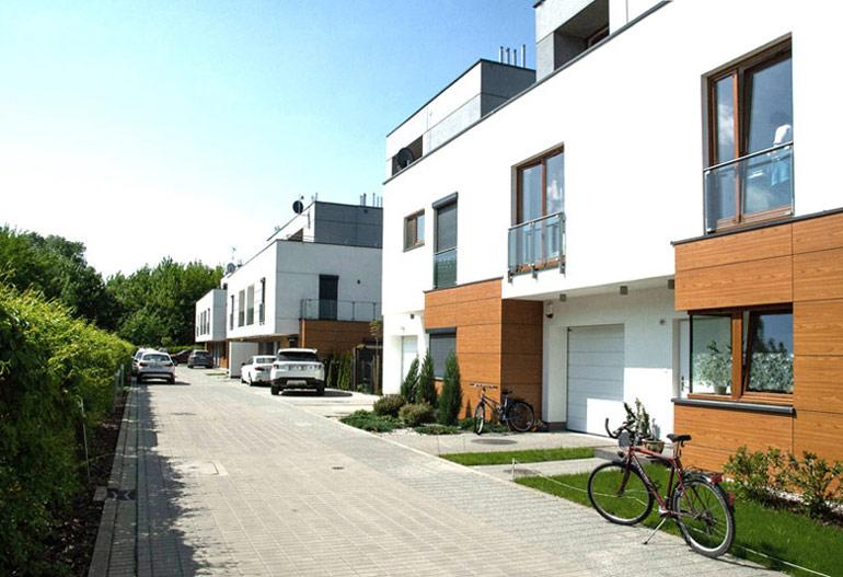 Osiedle domów jednorodzinnych, Warszawa. Projekt: GGP Architekci
