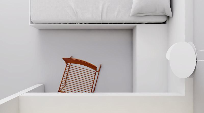 Wnętrza domu szeregowego w Łodzi. Projekt: INUTI