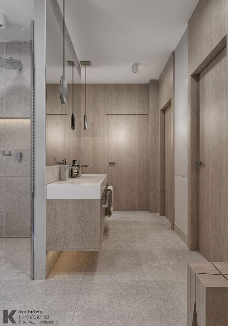 Wnętrze modernistycznej willi w Łodzi. Projekt: KK Architekci | Katarzyna Kosiorek