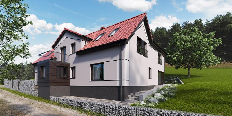 Przebudowa stuletniego domu poniemieckiego w Wałbrzychu. Projekt: KPA Korbasiewicz Pracownia Architektury
