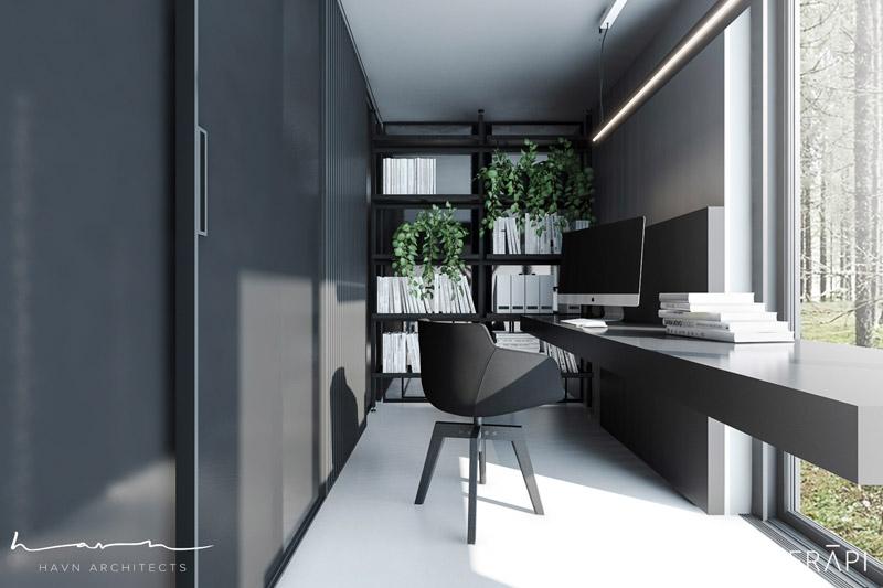 Wnętrza domu w Sztokholmie. Projekt: Merapi Architects i Havn Architects