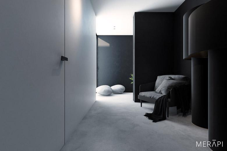 Wnętrza mieszkania w Gdańsku. Projekt: Merapi Architects