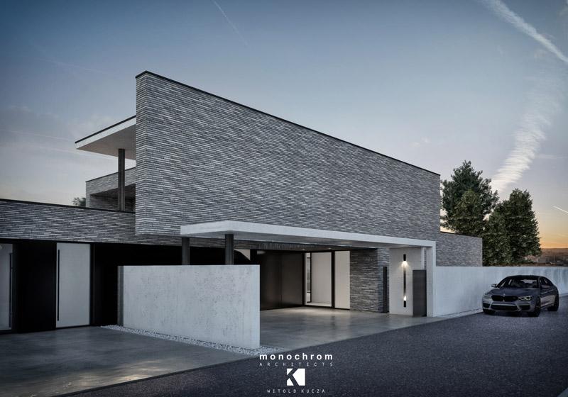 Dom B&B (Brick&Black), Wodzisław Śląski. Projekt:Monochrom Architects | Witold Kucza