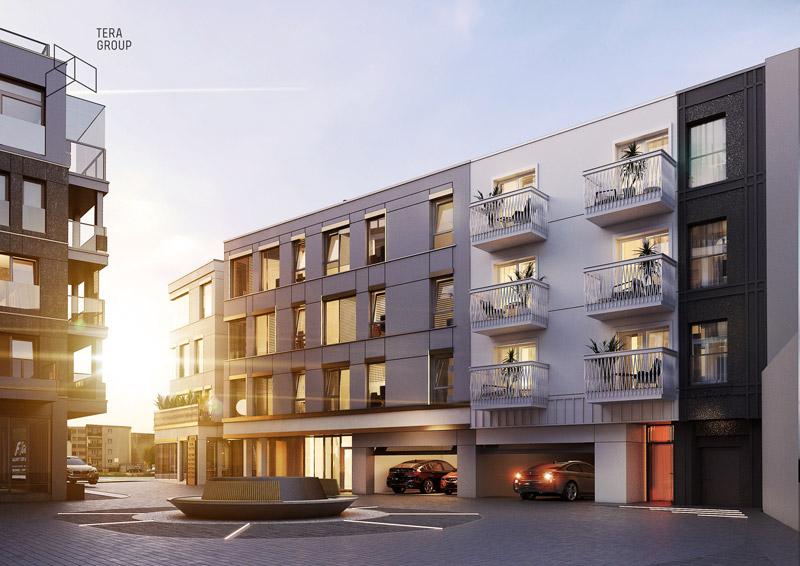 """Budynek usługowo-handlowo-mieszkalny """"Apollo Split Business&Living"""" w Kielcach. Projekt:Pracownia Architektoniczna Tera Group"""