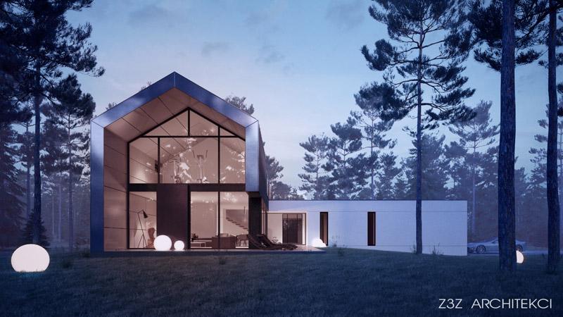 Dom w Zalesiu. Projekt:Z3Z ARCHITEKCI | Mateusz Zajkowski
