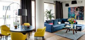 Energetyczne wnętrza apartamentu projektu Anny Koszeli