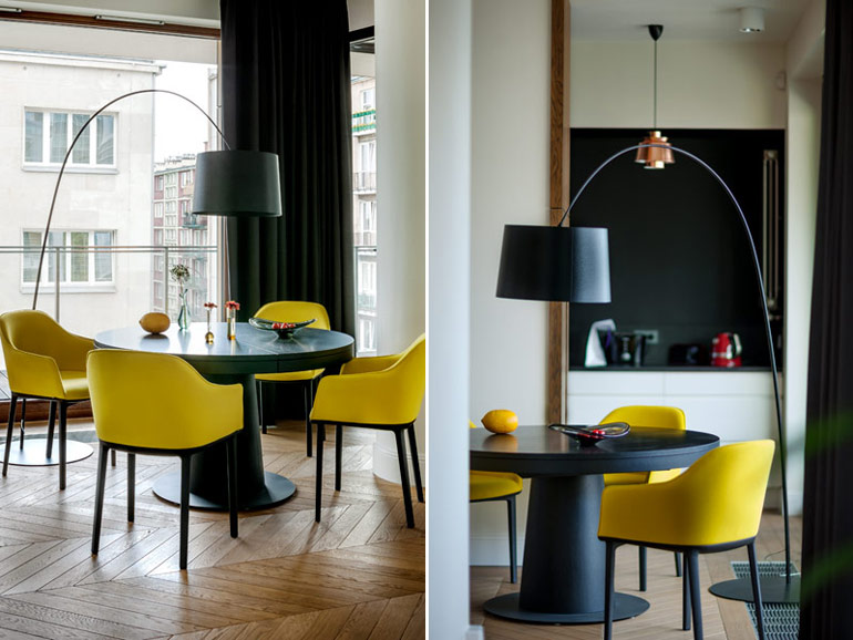 Wnętrza apartamentu w Warszawie. Projekt: Anna Koszela. Zdjęcia: Rafał Lipski