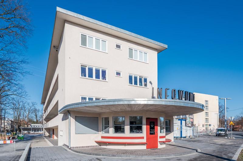 Pawilon informacyjny WuWA, Wrocław. Projekt: ARCH_IT oraz Tomasz Cempa, Wrocławska Rewitalizacja. Zdjęcie: Maciej Lulko