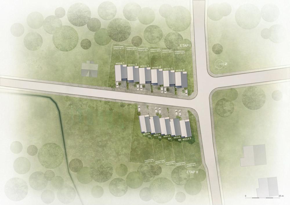Kameralne osiedle domów jednorodzinnych w Kątach projektu biura BDM Architekci