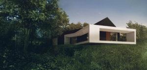 Dom na skarpie pod Szczecinem projektu DISM Architekci