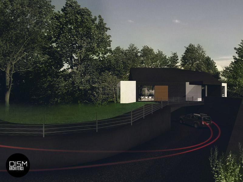 Dom na skarpie pod Szczecinem. Projekt: DISM Architekci