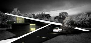 Czarny dom projektu pracowni DISM Architekci