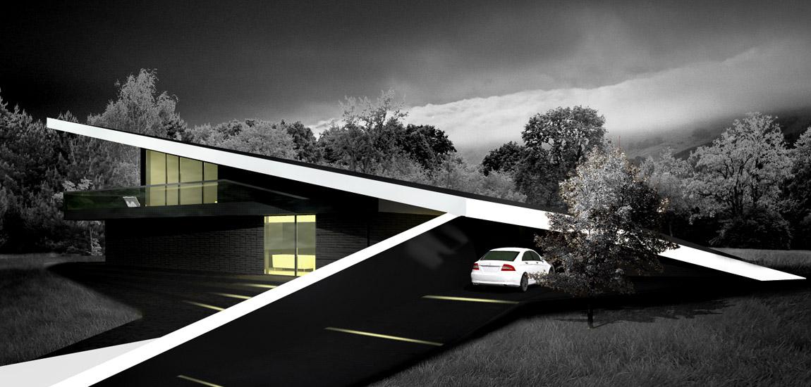 Czarny dom. Projekt: DISM Architekci, Szczecin
