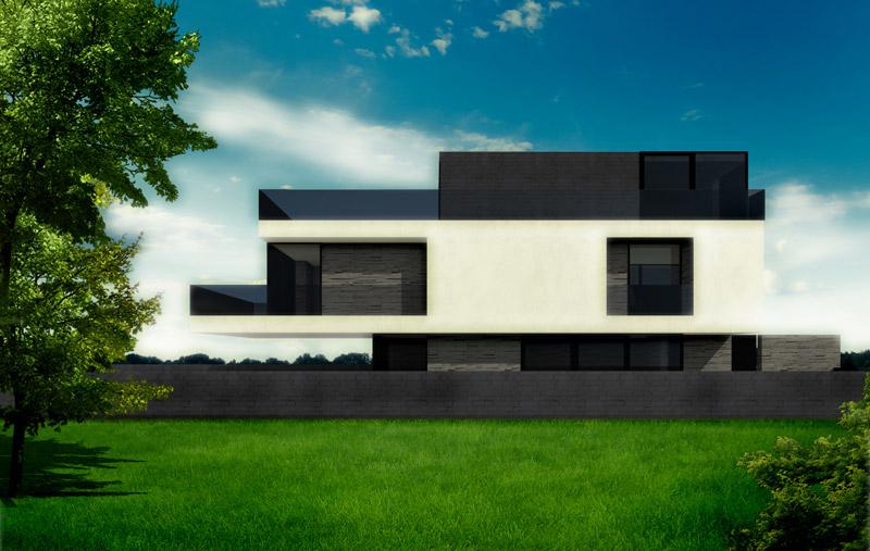 Dom 3 Poziomy. Projekt: DISM Architekci, Szczecin