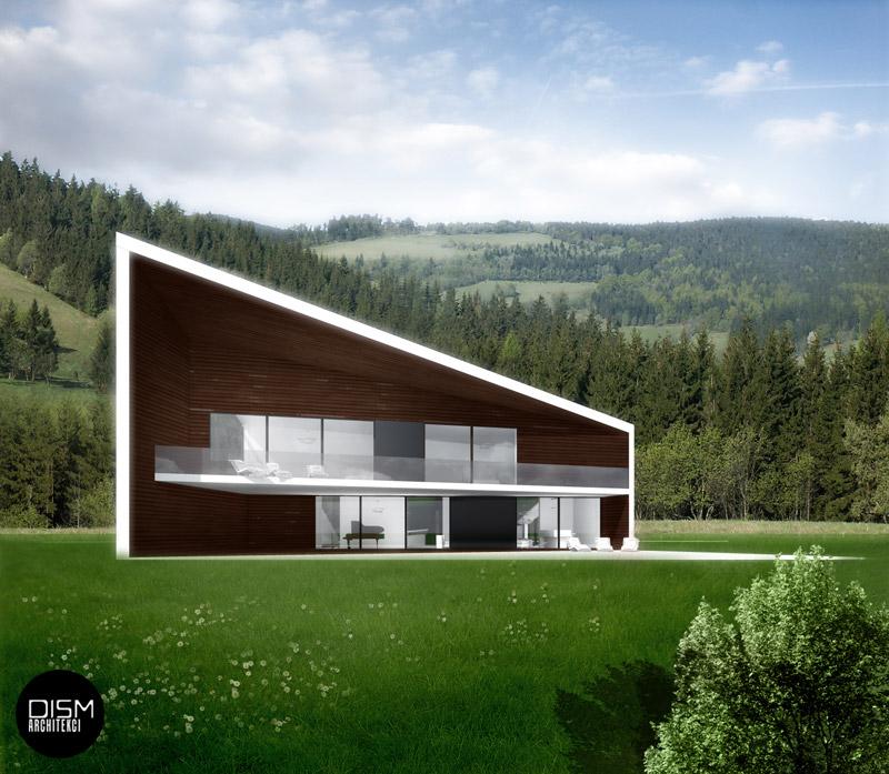 Projekt nowoczesnego domu w górach. Pracownia: DISM Architekci, Szczecin