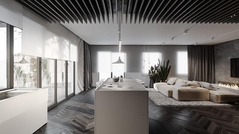 Mieszkanie w Krakowie. Projekt wnętrz: Hi-Light Architects