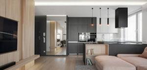 Wnętrza mieszkania projektu Hi-Light Architects